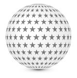 Sphere with stars Stock Photo