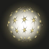 Sphere from stars Royalty Free Stock Photo