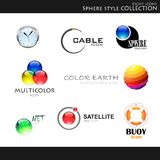 Sphere style collection Stock Image