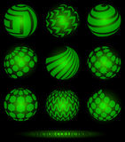 Sphere symbols. Set of abstract sphere shaped symbols Royalty Free Stock Photography