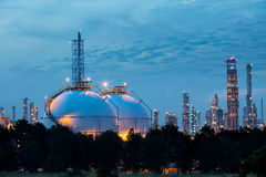 Sphere tank of storage gas Stock Photo