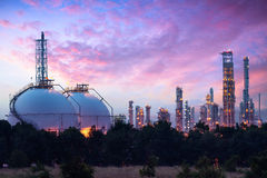 Sphere tank. Of storage gas and liquid chamical, Petrochemical industry concept Stock Photos