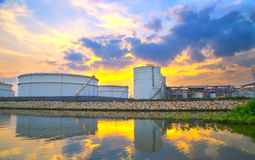 Sphere tank of storage gas and liquid chamical. Stock Image