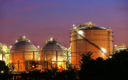 Sphere tank of storage gas and liquid chamical Stock Photo