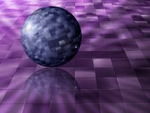 Sphere on tiles Stock Photos