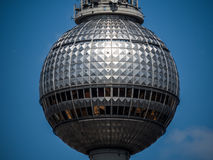 The sphere on top of Fernsehturm in Berlin Stock Image