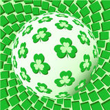 Sphere with trefoils on vivid background Royalty Free Stock Photos