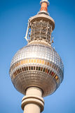 The sphere of the TV tower in Berlin. Closeup image of the sphere of the TV tower in Berlin, Germany Stock Image