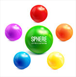 Sphere vector object. Royalty Free Stock Images