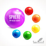 Sphere vector object. Stock Photography