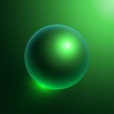 Sphere-01 verde oscuro Imagenes de archivo