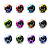 Sphere web buttons. Collection of 3D Sphere web buttons royalty free illustration