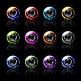 Sphere web buttons. Collection of 3D Sphere web buttons Royalty Free Stock Photo