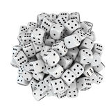 Sphere from white dice Royalty Free Stock Photography