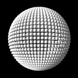 Sphere from white spheres Royalty Free Stock Image