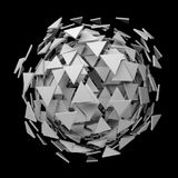Sphere of White Triangle Pieces Stock Photo