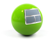 Sphere with a window. Stock Images