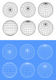 Sphere wire frame Stock Images