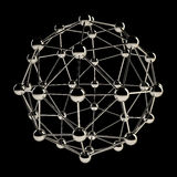 Sphere wireframe structure Royalty Free Stock Photo