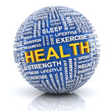 Sphere with word related to health Stock Images