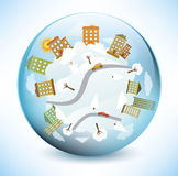 Sphere World Stock Photography