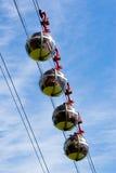 Spherekabelbilar Royaltyfri Fotografi
