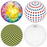 Spheres. And balls in many colors Stock Photography