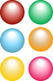 Spheres. Red green cyan orange yellow and magenta spheres Royalty Free Stock Photos