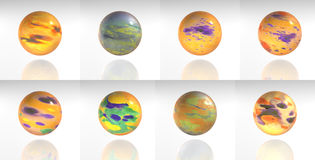 Spheres - 3D Royalty Free Stock Images