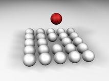 Spheres. 3D illustration Royalty Free Stock Photography