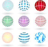 Spheres. With various different designs Stock Photography
