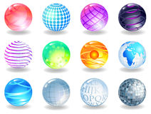 Spheres. Of different style, vector image Stock Photos
