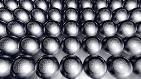 Spheres Background. 3D rendered Illustration. Abstract background of infinite spheres Royalty Free Stock Image
