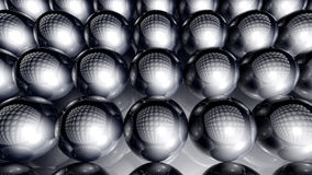 Spheres Background. 3D rendered Illustration. Abstract background of infinite spheres Stock Photo