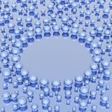 Spheres background. (HQ 3D image Stock Image