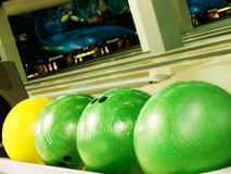 Spheres for bowling Stock Photo