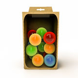 Spheres in a box Royalty Free Stock Images