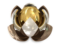 Spheres bronze, silver and golden Royalty Free Stock Image