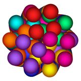 Spheres Clump In Rainbow Colors Royalty Free Stock Photography