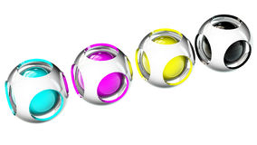 Spheres cmyk Royalty Free Stock Photo
