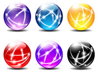 Spheres colored balls Stock Photography
