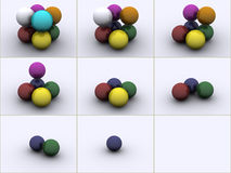 Spheres in colors Stock Photos