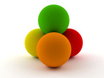 Spheres in colors Royalty Free Stock Photography
