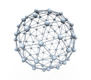 Spheres connected. Small spheres through connection create a big sphere Royalty Free Stock Photos