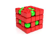 Spheres and cubes Stock Photography