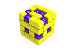 Spheres and cubes Stock Photo