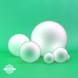 Spheres. 3D illustration. Can be used for info-graphics, presentations, graphic or website Royalty Free Stock Images