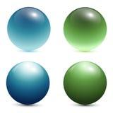 spheres för exponeringsglas 3d Arkivfoton