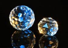 spheres för kristallsnittmagi Arkivbilder