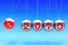 Spheres för nytt år av Newton Arkivfoto